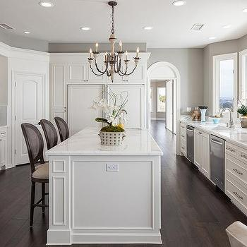 Corner Kitchen Pantry Design - Transitional - Kitchen