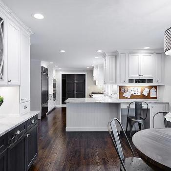 White Upper Cabinets And Black Lower Cabinets