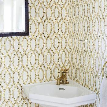 animal print powder room wallpaper design ideas