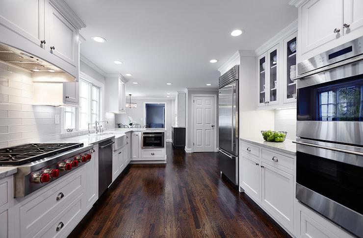 Concealed Range Hood Transitional Kitchen