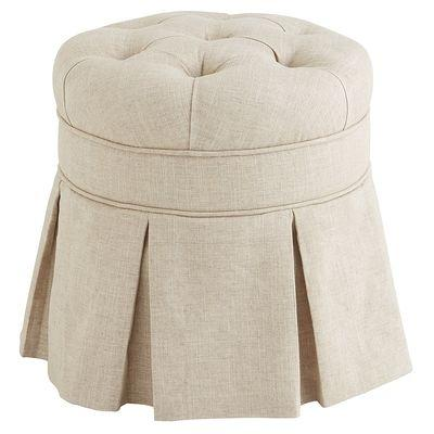 avery cream vanity stool