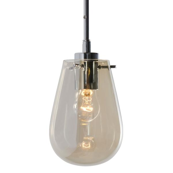 Danica One Light Clear Glass And Polished Chrome Round