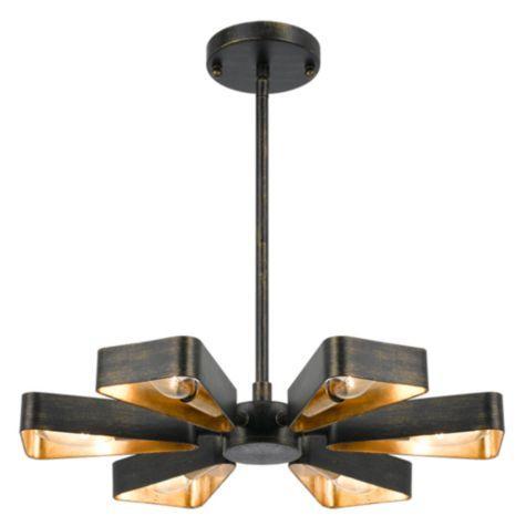 Gold black chandelier lanson gold black chandelier mozeypictures Image collections