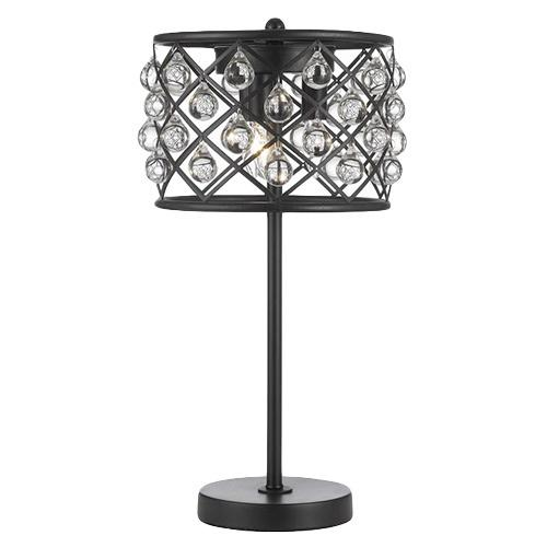 Spencer Table Lamp Crystal Spheres Iron 3 Light Table Lamp In Black