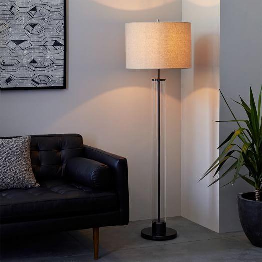 Antique floor lamp column brilliant idea