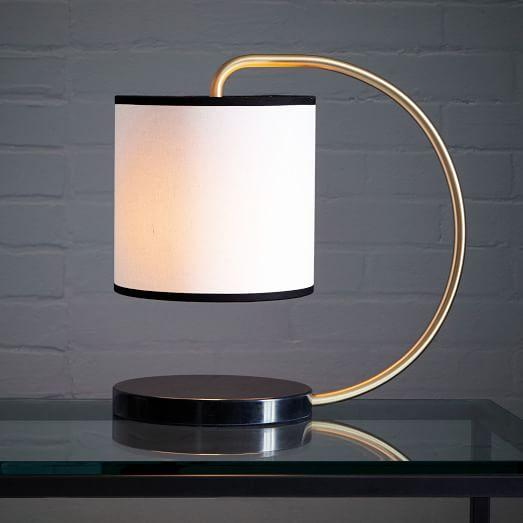 Dean Marble Table Lamp In Black And Gold