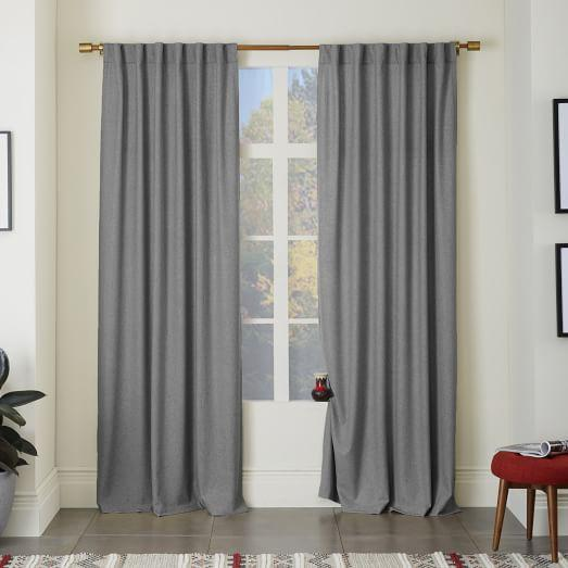 Window Treatments - Textured Stripe Curtain