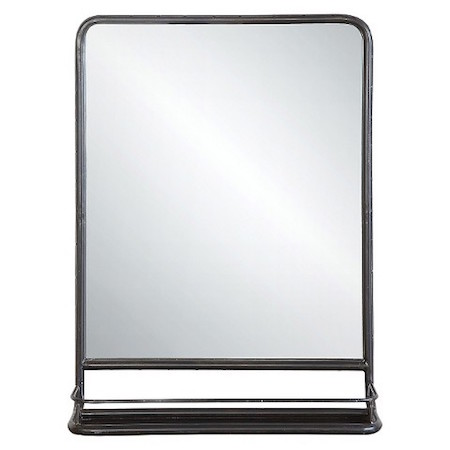 Wall mirror with tray look 4 less and steals and deals for Decorative mirrors for less