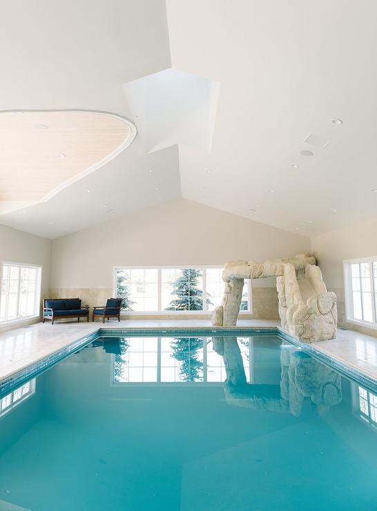 Pool Room With Vaulted Ceiling Design Ideas