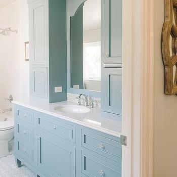 Cornflower Blue Vanity Cabinets