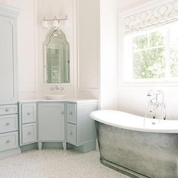 Master Bathroom Corner Vanity Design Ideas