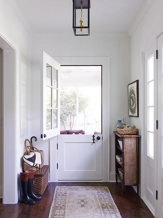 Glass Dutch Door To Backyard Country Entrance Foyer