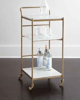 Coolidge Bar Cart In Gold