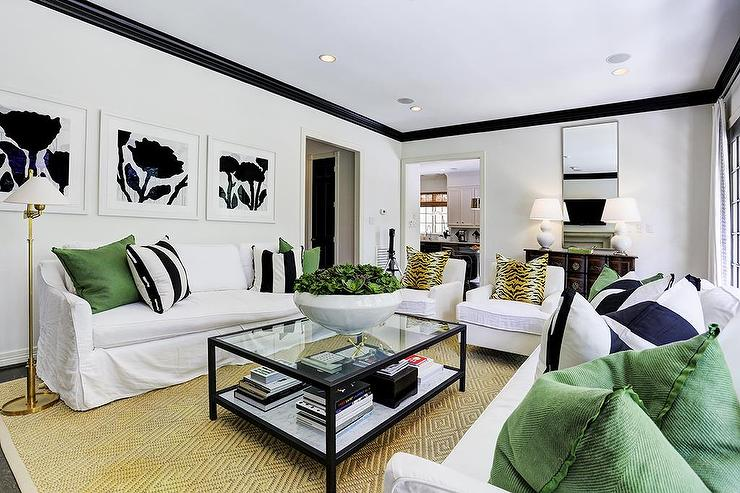 black white and green living room white and black living room with emerald green accents 25365