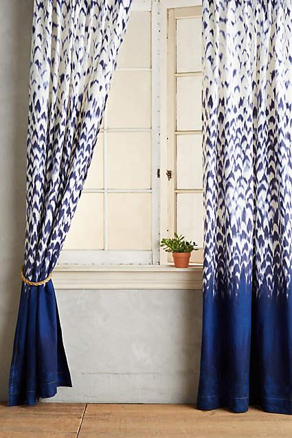 Laxmi Navy And White Curtain