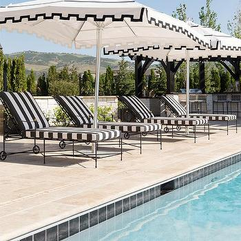 Gray Pool Loungers Traditional Pool Ashley Whittaker