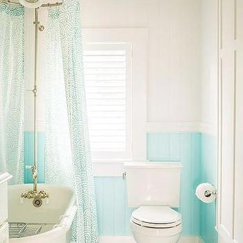 Turquoise And Gray Bathrooms Design Ideas