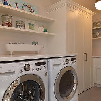 washer dryer under shelves design ideas. Black Bedroom Furniture Sets. Home Design Ideas
