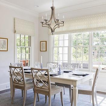 Charmant Lattice Back Dining Chairs