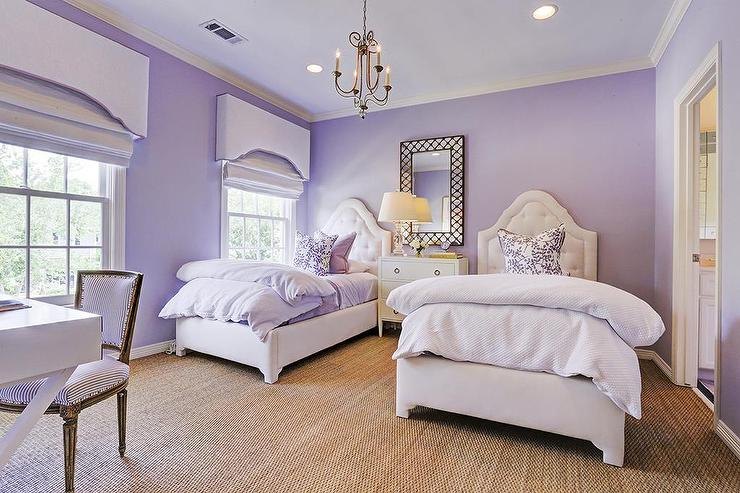 Purple Shared Girls Bedroom Transitional Girl S Room