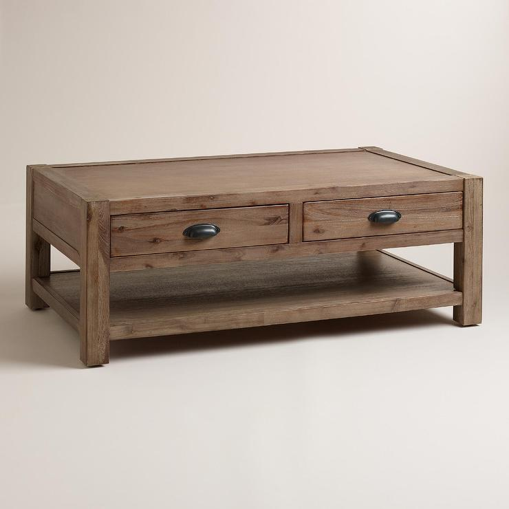 Wood Quade Coffee Table In Brown