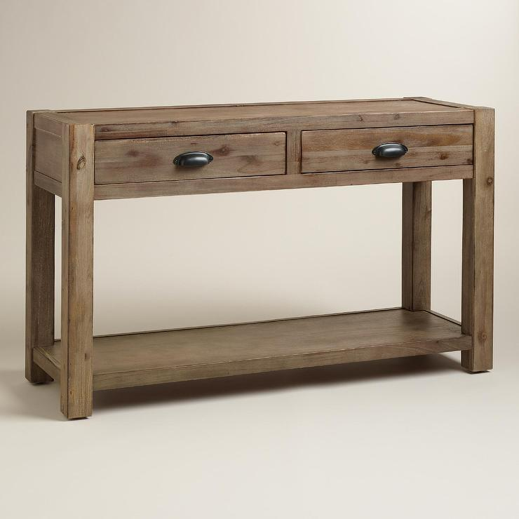 Wonderful Wood Quade Console Table In Brown