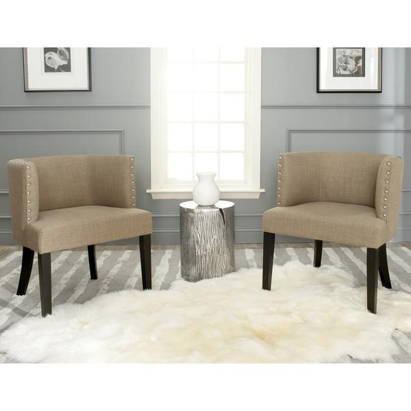 safavieh lola grey tub chair