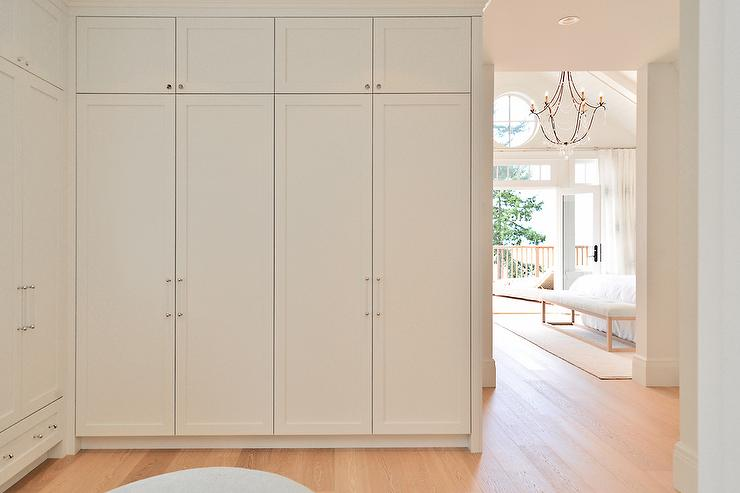 walk in closet with floor to ceiling wardrobe cabinets - Built In Wardrobe