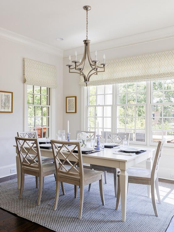 white french dining table with gray dining chairs transitional rh decorpad com
