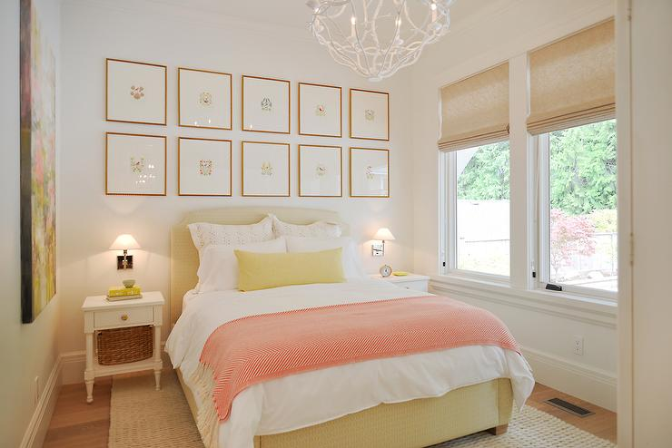 Pink And Yellow Bedrooms Cottage Bedroom