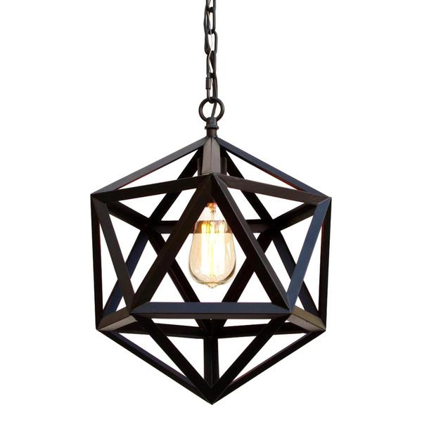 Black Iron And Crystal Rectangular Chandelier