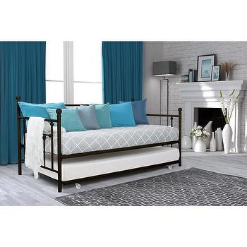 Tribecca Home Knightsbridge Tufted Nailhead Daybed With