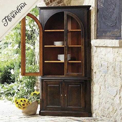 Incredible Casa Florentina Gabriele Corner China Cabinet In Antique Download Free Architecture Designs Barepgrimeyleaguecom