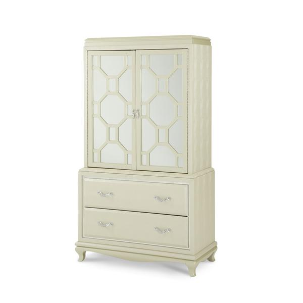 Elegant After Eight 2 Door Chest By Michael Amini In Cream