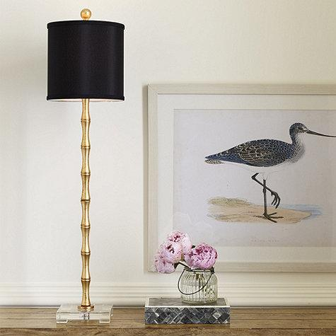 Evreux Buffet Lamp In Gold And Black