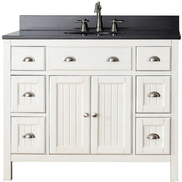 Windham Black 36 Inch Bath Vanity With White Marble Top Overstockcom