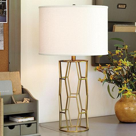 Georgette Table Lamp In Brass