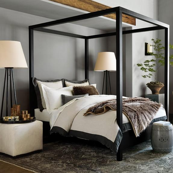 Dark Wood Bed Frame Modern