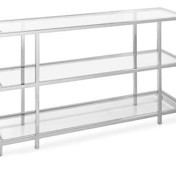 Tribeca Console Table In Silver