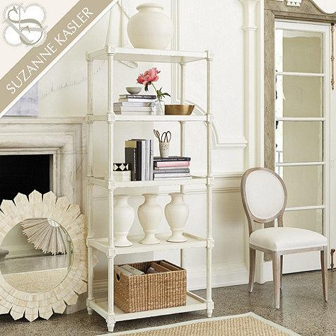 Suzanne Kasler French Bookcase In White