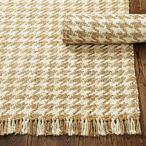 Houndstooth Jute Rug In Taupe And Ivory