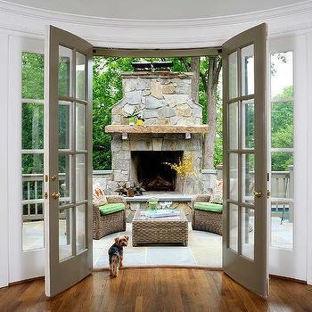 Grey French Patio Doors Design Ideas