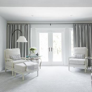 White And Gray Bedroom Curtains Design Ideas