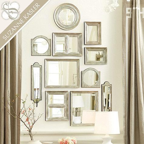 Suzanne Kasler Gallery Wall Mirrors In Silver