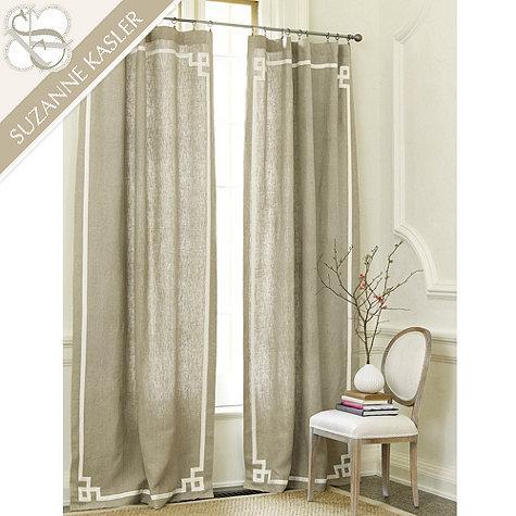 Threshold Tan Greek Key Curtain Panel