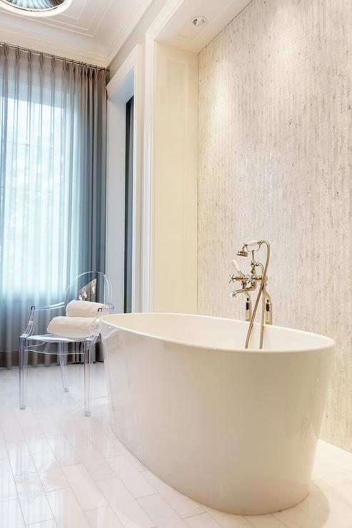 Bianco Dolomiti Marble Contemporary Bathroom