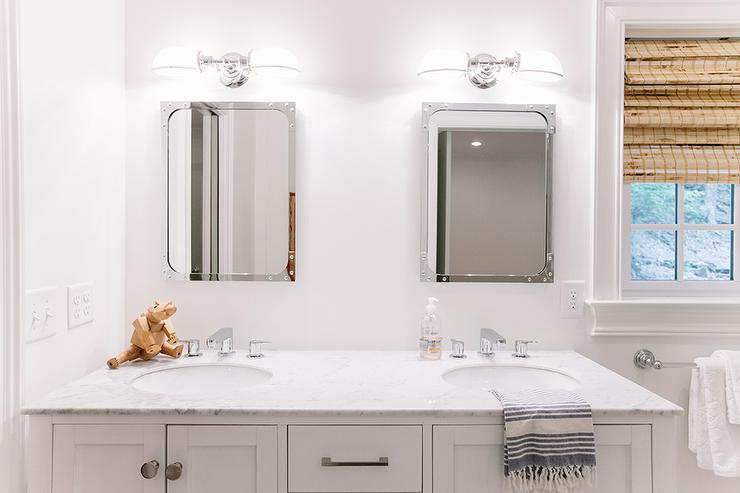 Shared Kids Bathroom Design Ideas - Restoration hardware bathroom mirrors for bathroom decor ideas