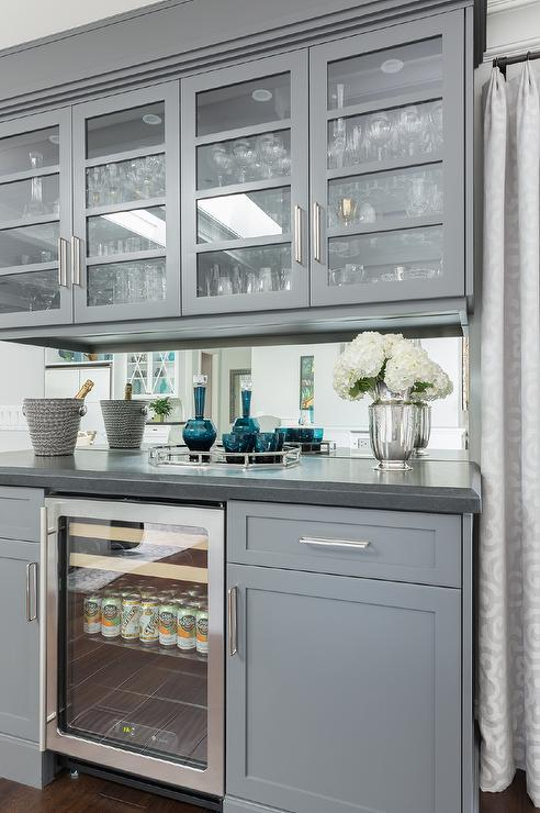 Light Gray Upper Cabinets Dark Gray Lower Cabinets Design Ideas - Gray lower cabinets
