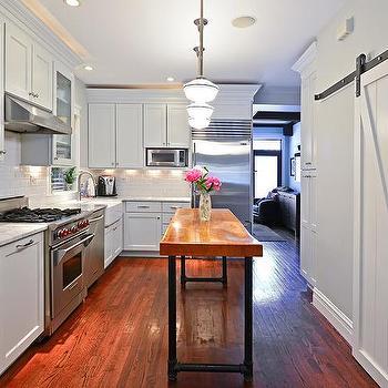 Live edge kitchen island transitional kitchen for Live edge kitchen island