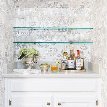 Glass Bar Shelves Design Ideas